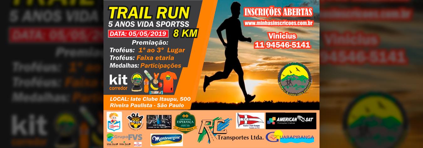 Trail Run 5 Anos Vida Sportss
